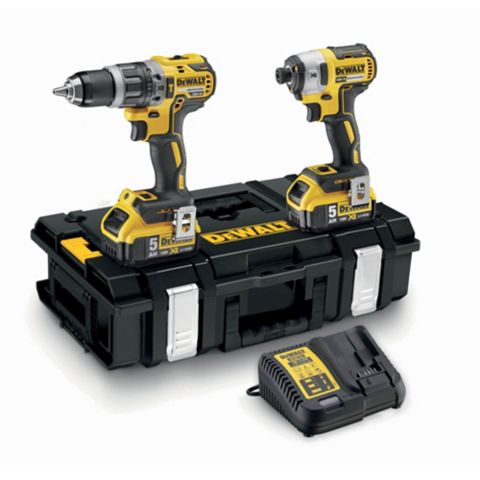DeWalt 18V Li-Ion Drill & Driver Twinpack Batteries Included DCK266P2-GB
