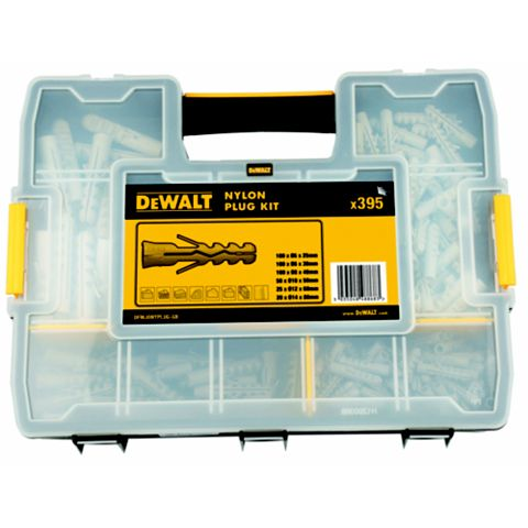 DeWalt Nylon Plug Assortment Box, Pack of 395