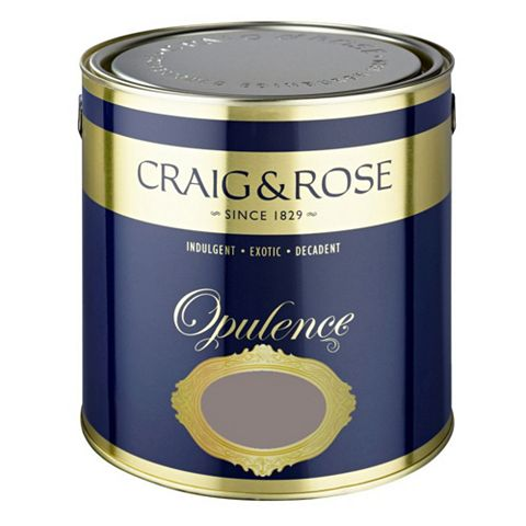 Craig & Rose Opulence Dark Truffle Matt Emulsion Paint 2.5L