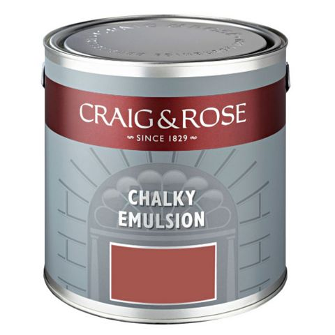 Craig & Rose Authentic Period Colours Red Barn Chalky Matt Emulsion Paint 2.5L