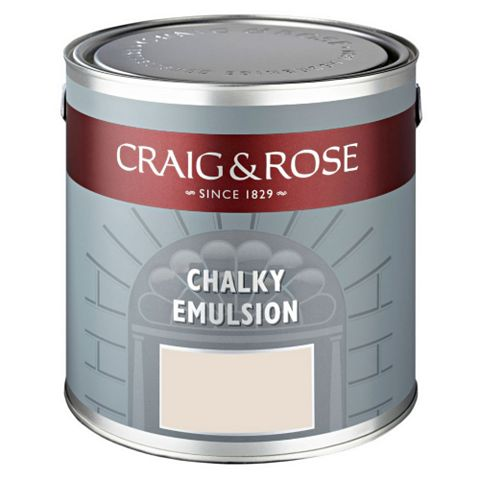Craig & Rose Authentic Period Colours Broken White Flat Matt Emulsion Paint 2.5L