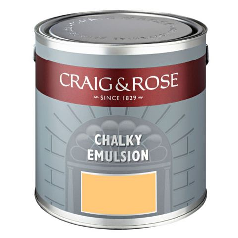 Craig & Rose Authentic Period Colours Maria Theresa Yellow Flat Matt Emulsion Paint 2.5L