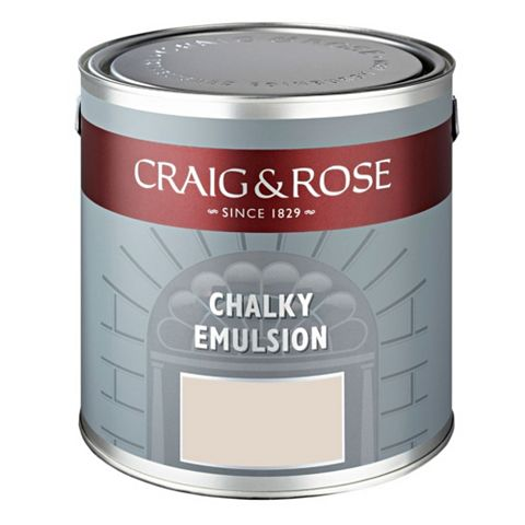 Craig & Rose Authentic Period Colours Parthenon White Flat Matt Emulsion Paint 2.5L