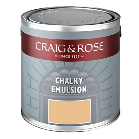 Craig & Rose Authentic Period Colours Tang Yellow Chalky Matt Emulsion Paint 2.5L