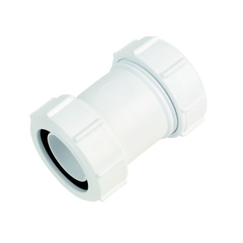 McAlpine Waste Straight Connector (Dia)32mm, White