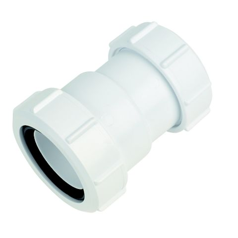 McAlpine Waste Straight Connector (Dia)32/40mm, White