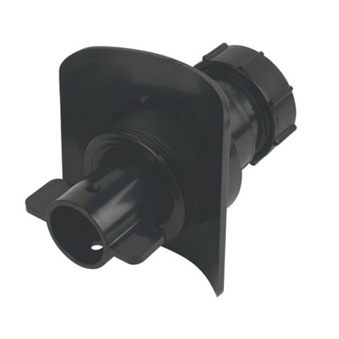 McAlpine BOSSCONN110-BL Black Boss Connector (Dia)32mm (H)100mm (W)107mm (D)104mm