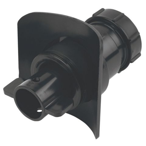McAlpine BOSSCONN110T-BL Black Boss Connector (Dia)40mm (H)100mm (W)111mm (D)102mm