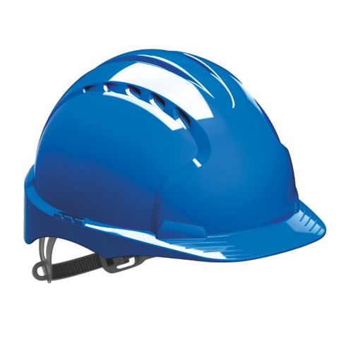 JSP Slip-Ratchet Vented Safety Helmet Blue