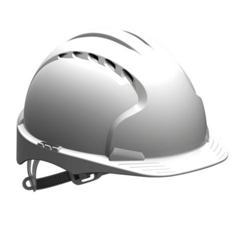 JSP White Vented Safety Helmet