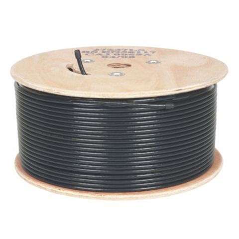 Labgear Black Coaxial Cable, 250m