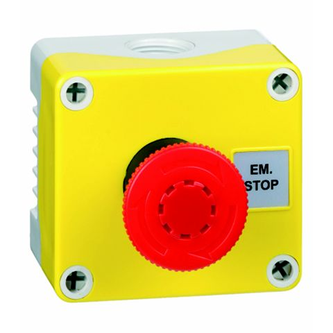 Hylec 1-Way Yellow A-Lock Push Button Switch