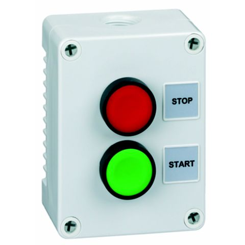Hylec 2-Way Grey Push Stop/Start Switch