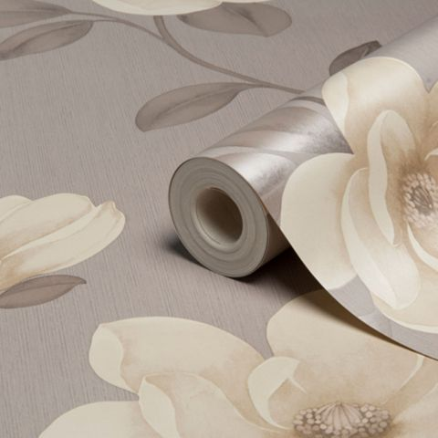 Flower Stone Floral Magnolia Wallpaper