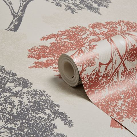 Sophie Conran Alderwood Copper Trees Glitter Effect Wallpaper