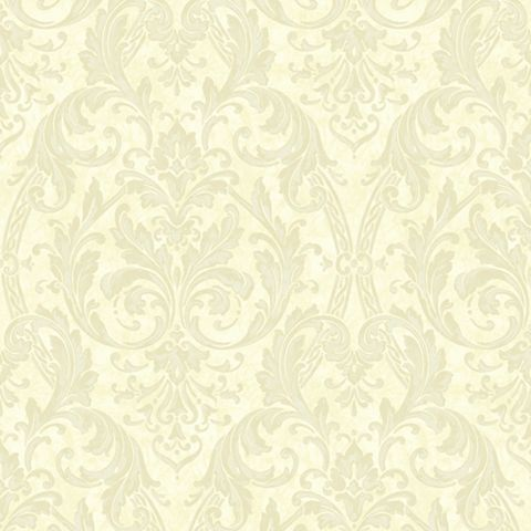 Medici Latte Damask Wallpaper
