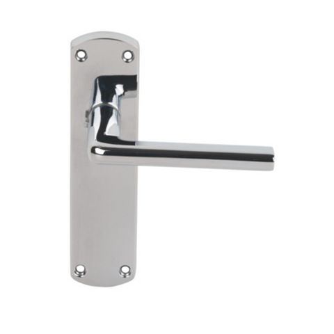 Serozzetta Uno Polished Chrome Effect Latch Handle, Pack of 2
