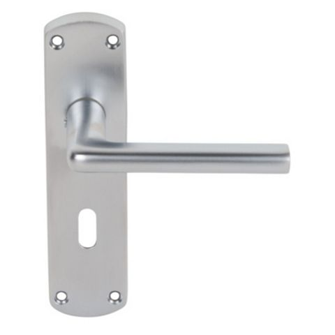 Serozzetta Uno Satin Chrome Effect Lock Handle, Pack of 2