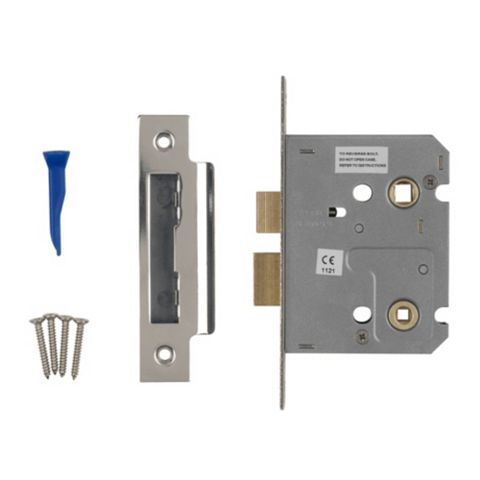 Smith & Locke 76mm Chrome Effect Bathroom Mortice Lock