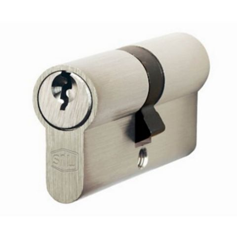Smith & Locke 40/50mm Nickel Effect Euro Double Cylinder Lock