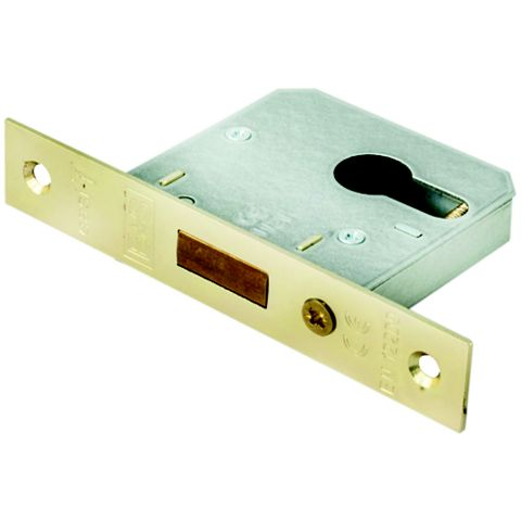 Smith & Locke 64mm Electro Brass Euro Profile Deadlock