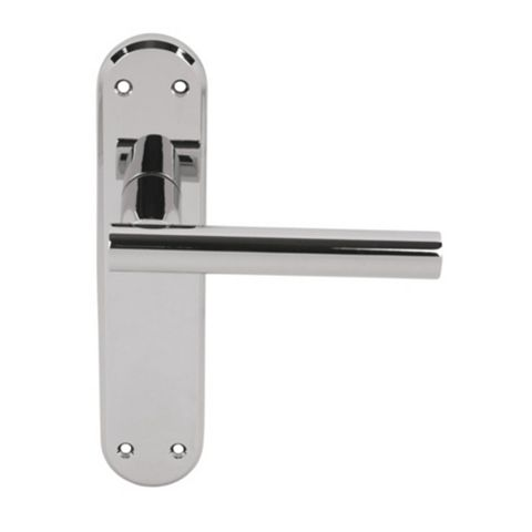 Smith & Locke T-Bar Chrome Contemporary Latch Door Handle