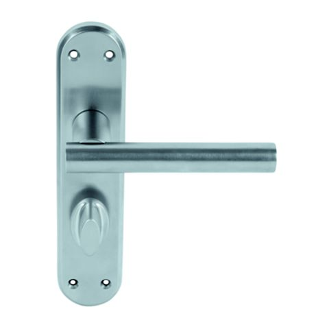 Smith & Locke T-Bar Satin Chrome Contemporary WC Door Handle