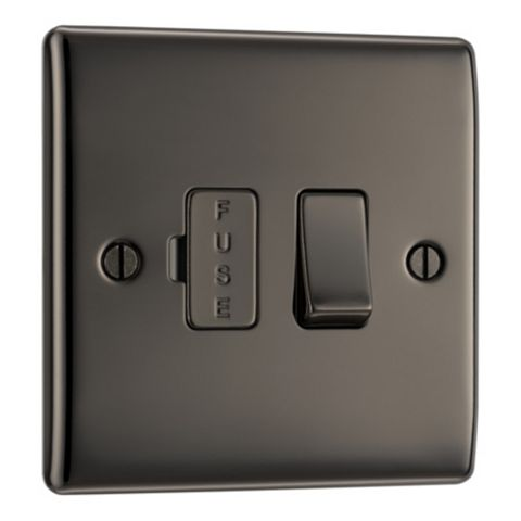 British General Nickel Effect Switched Fused Connection Unit 13A