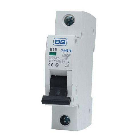 BG 35mm Din Rail Mounting MCB, 16A 230/400V