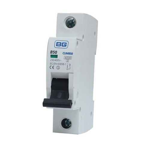 BG 35mm Din Rail Mounting MCB, 50A 230/400V