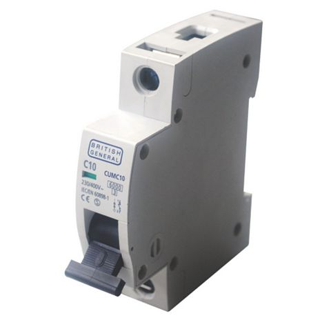 BG 35mm Din Rail Mounting MCB, 10A 230/400V