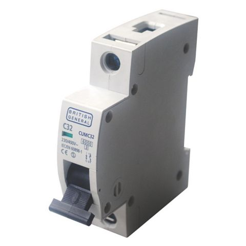 BG 35mm Din Rail Mounting MCB, 32A 230/400V