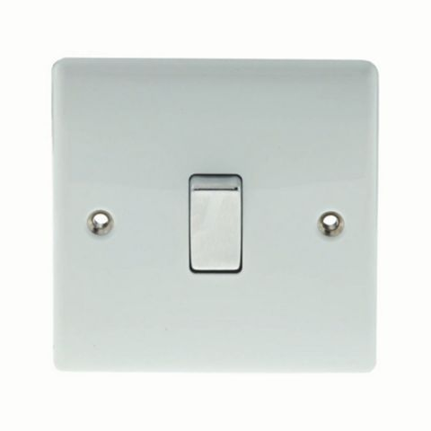 British General 10AX 2-Way Single White Switch