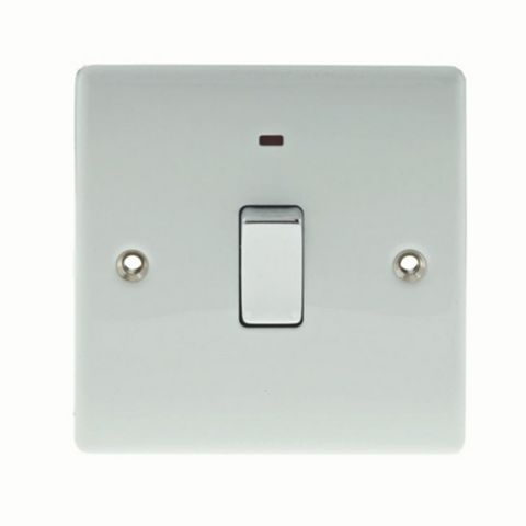 British General 1-Gang 20A White Switch