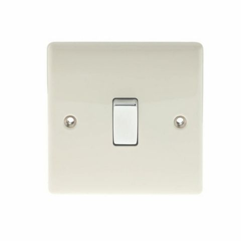 British General 1-Gang 10AX Cream Intermediate Switch