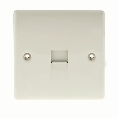 1 Gang Raised Rounded Polished Telephone Master Socket
