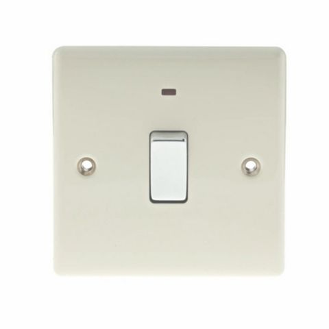 British General 1-Gang 20A Cream Switch