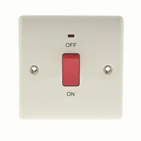 1 45A Cooker Switch