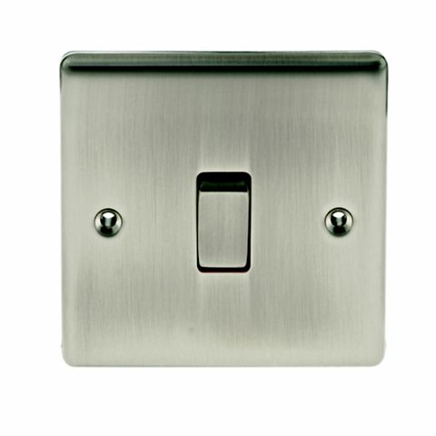 British General 1-Gang 10AX Silver Intermediate Switch