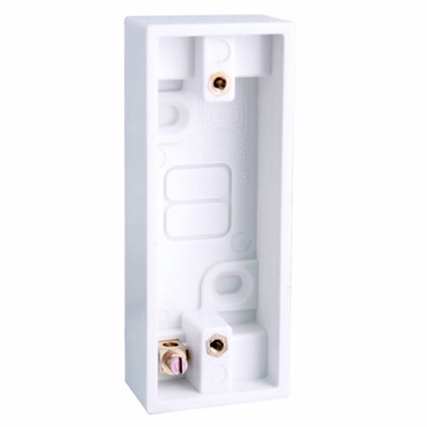 White Architrave Pattress Box 19 mm