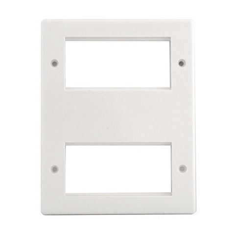 British General Plastic 8 Module Face Plate 7 mm