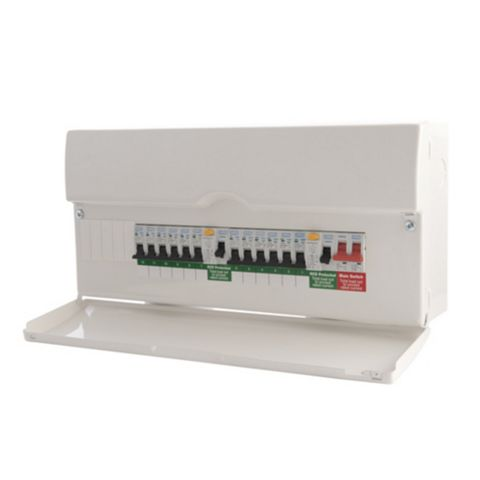 BG 100A 16-Way Safety Switch Metal Enclosure Consumer Unit