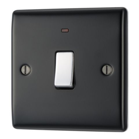 British General 20A Single Black Switch