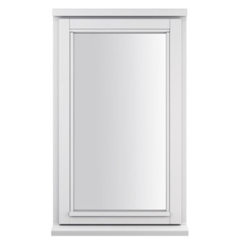 Glazed White Painted Timber Side Hung Casement Window (H)1045mm (W)625mm
