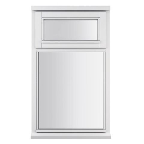 Glazed White Painted Timber Top Hung Casement Window (H)1045mm (W)625mm