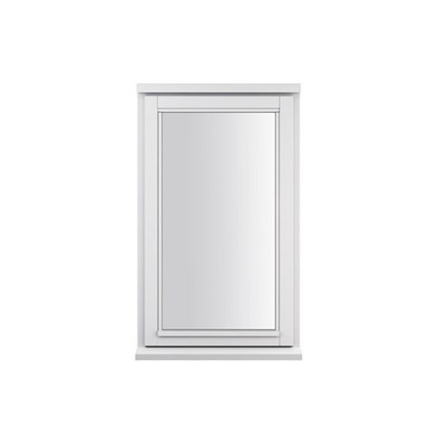 Glazed White Painted Timber Side Hung Casement Window (H)1195mm (W)625mm