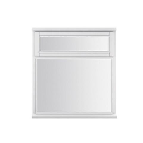 Glazed White Painted Timber Top Hung Casement Window (H)1045mm (W)910mm