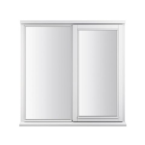 Glazed White Painted Timber Side Hung Casement Window (H)1195mm (W)1195mm