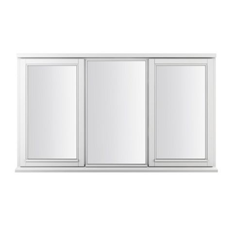 Glazed White Painted Timber Side Hung Casement Window (H)1795mm (W)1195mm