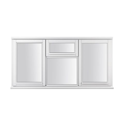 Glazed White Painted Timber Two Side Hung Casement Window (H)1795mm (W)1195mm